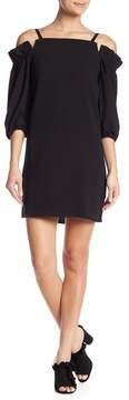 Nicole Miller Off-the-Shoulder Ruffle Sleeve Dress
