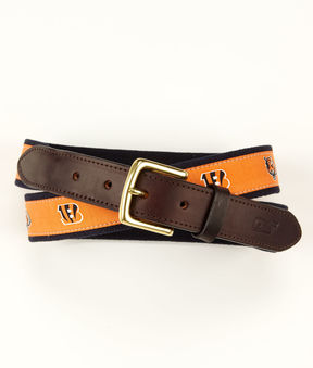 Vineyard Vines Cincinnati Bengals Canvas Club Belt
