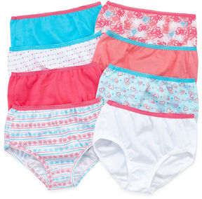 Hanes 8-pc. Briefs-Big Kid Girls