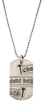 Chrome Hearts Dog Tag Pendant Necklace