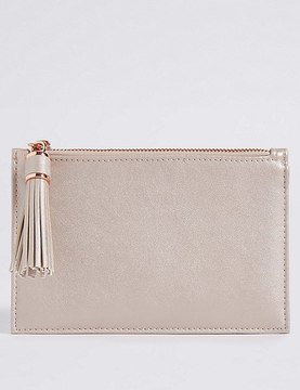 Marks and Spencer Metalic Zip Travel Jewellery Bag