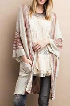 Easel Boho Knit Cardigan