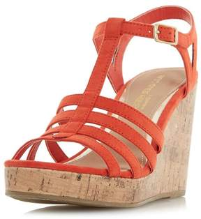 Head Over Heels *Head Over Heels by Dune Orange 'Keeli' Wedge Sandals