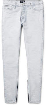 Fear Of God Skinny-Fit Zip-Detailed Distressed Selvedge Denim Jeans