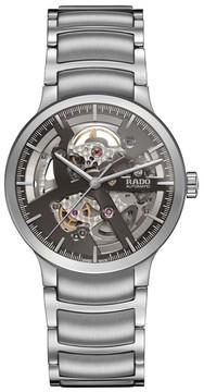 Rado Men's Centrix Automatic Open Heart Bracelet Watch, 38Mm