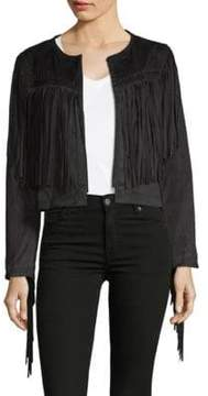 Bagatelle Fringed Open-Front Jacket