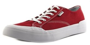 HUF Classic Lo Men Round Toe Suede Red Skate Shoe.