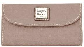 Dooney & Bourke Saffiano Continental Clutch Wallet - TAUPE - STYLE