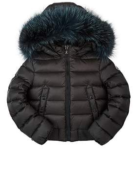 Moncler Kids' New Alberta Fur-Trimmed Bomber Coat
