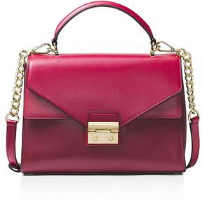 MICHAEL Michael Kors Sloan Top Handle Medium Leather Satchel - CRANBERRY RED/GOLD - STYLE
