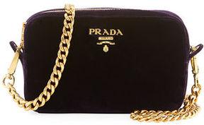 Prada Velvet Zip-Top Chain Shoulder Bag