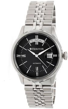 Heritor Vernon Mens Silver Tone Bracelet Watch-Herhr5802
