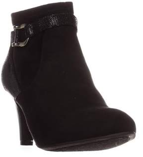 Karen Scott Ks35 Maxinee Almond-toe Ankle Booties, Black.