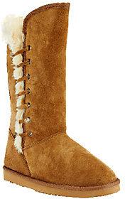 Lamo Suede Tall Shaft Boot w/ Faux Fur - Robyn