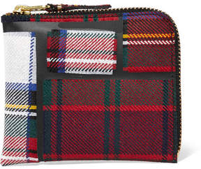 Comme des Garcons Taped Plaid Wool Wallet - Red