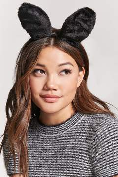 Forever 21 Furry Bunny Ear Headband