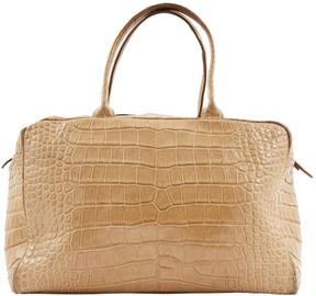 Alaia Beige Alligator Handbag