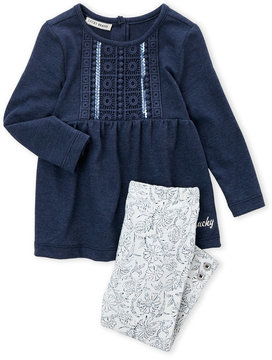 Lucky Brand Infant Girls) Two-Piece Sequin Tunic & Leggings Set