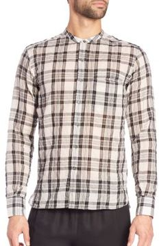 Ovadia & Sons Crosby Plaid Sportshirt
