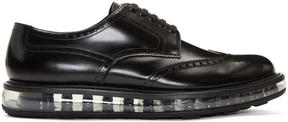 Prada Black Wingtip Creeper Brogues