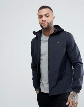 Farah Smith Zip Through Hooded Jacket in Black