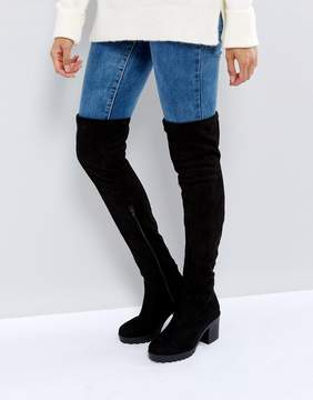 New Look Chunky Track Sole Over the Knee Boot