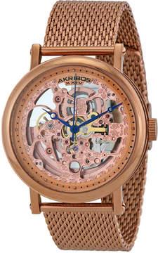 Akribos XXIV Rose Gold-tone Stainless Steel Men's Watch