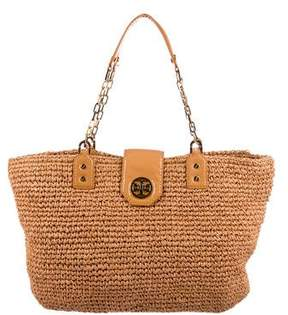 Tory Burch Straw Woven Shoulder Bag