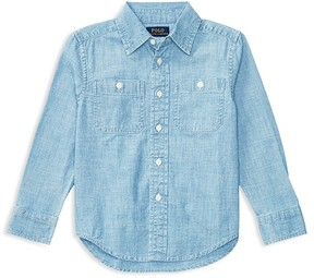 Ralph Lauren Childrenswear Boys' Chambray Button Down Shirt - Little Kid