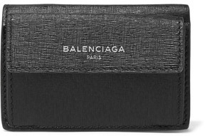Balenciaga - Textured-leather Wallet - Black