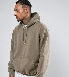 Reclaimed Vintage Inspired Oversized Hoodie In Gray Overdye