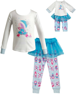 Dollie & Me Girls' 3Pc Pajama Set