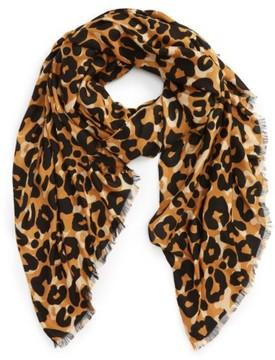 Sole Society Women's Cheetah Print Scarf