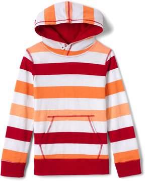 Lands' End Lands'end Boys Slub Jersey Stripe Hoodie