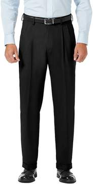 Haggar Men's J.M. Premium Classic-Fit Stretch Sharkskin Pleated Dress Pants