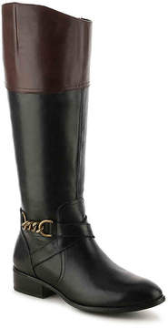 Lauren Ralph Lauren Women's Men'sna Two-Toned Wide Calf Riding Boot