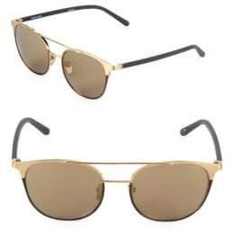 Linda Farrow 54MM Round Aviator Sunglasses