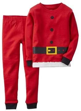 Carter's Infant & Toddler Boys 2-Piece Santa Claus Christmas Pajama Set