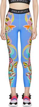 Emilio Pucci Blue Graphic Leggings