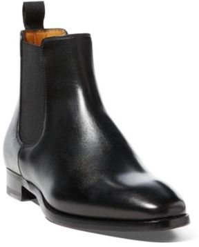 Ralph Lauren Galen Burnished Calfskin Boot Black 6.5