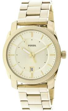 Fossil Men's Machine FS5264 Gold Stainless-Steel Japanese Quartz Fashion Watch