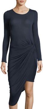 Astr Naomi Ruched Asymmetric Dress