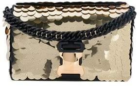 Christopher Kane Women's Gold Cotton Shoulder Bag.