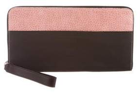 Brunello Cucinelli Rubber Embossed-Trimmed Clutch w/ Tags