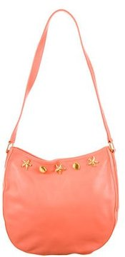 Escada Embellished Leather Shoulder Bag