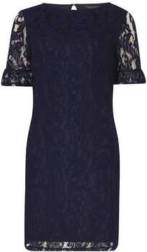 Dorothy Perkins Navy Lace Flute Sleeve Shift Dress