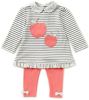 Starting Out Baby Girls 12-24 Months Striped Apple Top & Leggings Set