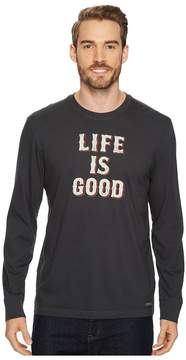 Life is Good Stack Long Sleeve Crusher Tee Men's Long Sleeve Pullover