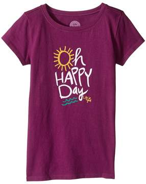 Life is Good Oh Happy Day Crusher Tee (Little Kids/Big Kids)