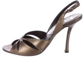 Christian Dior Metallis Slingback Sandals